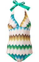 Missoni Mare Reversible Chevron Swimsuit - Lyst