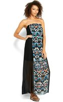 City Triangles Printed Panel Maxi Dress - Lyst