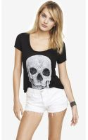Express Scoop Neck Graphic Tee   - Lyst
