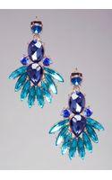 Bebe Crystal Fan Earrings - Lyst
