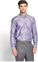 Ted Baker Long Sleeve Oxford Pocket Detail Shirt - Lyst