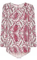 Noё Printed Red Sillas Printed Paisley Top - Lyst