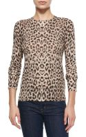 Equipment Sloane Leopard-print Crewneck Sweater - Lyst