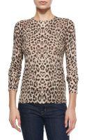 Equipment Sloane Leopard-print Crewneck Sweater - Lyst