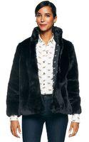 C. Wonder Black Faux Fur Jacket - Lyst