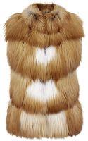 Harrods Of London Fox Fur Gilet - Lyst
