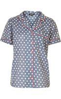 Topshop Chambray Pyjama Shirt - Lyst
