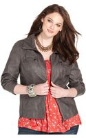American Rag Plus Size Fauxleather Bomber Jacket - Lyst