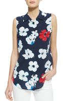 Equipment Signature Sleeveless Floralprint Blouse - Lyst
