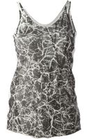 Lost and Found Printed Vest Top - Lyst