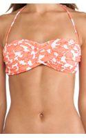 Shoshanna Coral Reef Bandeau Bikini Top - Lyst