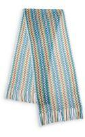 Missoni Multicolor Zigzag Fringe Scarf - Lyst