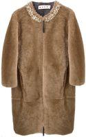 Marni Embellished Coat - Lyst