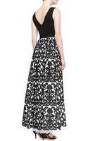 Aidan Mattox Sleeveless Floralskirt Gown - Lyst