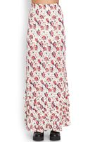 Forever 21 Tiered Floral Maxi Skirt - Lyst