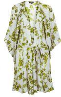 Topshop Floral Chiffon Robe - Lyst