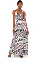 Jessica Simpson Printed Halter Maxi Dress - Lyst