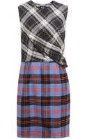 McQ by Alexander McQueen Tartan Drape Dress - Lyst