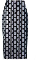 Araks Metalized Polka Gray Skirt - Lyst