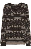 Etoile Isabel Marant Falk Intarsia Mohair Blend Sweater - Lyst