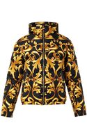 Versace Baroccoprint Quilted Down Jacket - Lyst