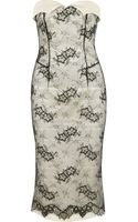 L'Wren Scott Sateen Twill and Lace Dress - Lyst