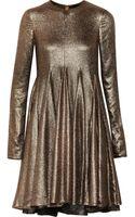 Vera Wang Stretchlamé Mini Dress - Lyst