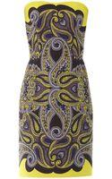 Lanvin Paisleyprint Technomesh Dress - Lyst