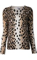 Equipment Cecile Cashmere Animal Print Vneck Sweater - Lyst