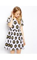 Asos Smock Dress in Elephant Print - Lyst
