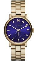 Marc By Marc Jacobs Womens Baker Gold-tone Stainless Steel Bracelet Watch 36mm - Lyst