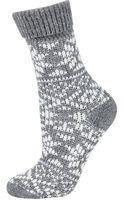 Topshop Womens Fairisle Ankle Slipper Socks - Grey - Lyst
