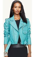 Ralph Lauren Black Label Leather Kaylin Jacket - Lyst