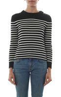 Saint Laurent Breton Stripe Cotton-knit Sweater - Lyst