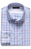 Banana Republic Slim Fit Non Iron Open Plaid Shirt Wild Violet - Lyst