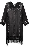 Etoile Isabel Marant Enery Broderieanglaise Crepe Dress - Lyst