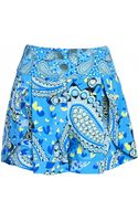 Matthew Williamson Peacock Paisley Print Silk Shorts - Lyst