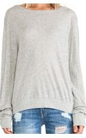 Wildfox Couture Varsity Basic Tissue Jersey Baggy Beach Jumper - Lyst