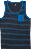 Dc Shoes Striped Contra Tank - Lyst