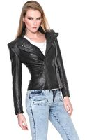 Pierre Balmain Nappa Leather Moto Jacket - Lyst