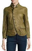 RED Valentino Collared Tailored Leather Jacket - Lyst