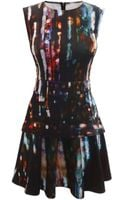 McQ by Alexander McQueen Blurry Lights Print Mini Dress - Lyst
