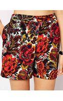 Asos Tapestry Print Shorts - Lyst