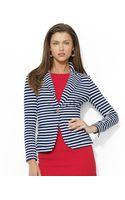 Ralph Lauren Lauren Singlebutton Striped Blazer - Lyst