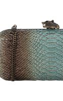 House Of Harlow Adele Snakeembossed Clutch - Lyst