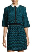 M Missoni Knit Zigzag Dress - Lyst