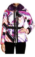 Emilio Pucci Jacket Coat Print with Fur - Lyst