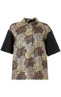 No 21 Sequin-embelished Point-collar Top - Lyst