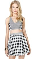 Nasty Gal In Check Twopiece Dress - Lyst