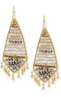 Nakamol Czech Crystal Beaded Fringe Earrings Smokegolden - Lyst